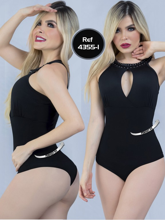 Body Reductor Colombiano Capellini - Ref. 114 -4355-1 Negro