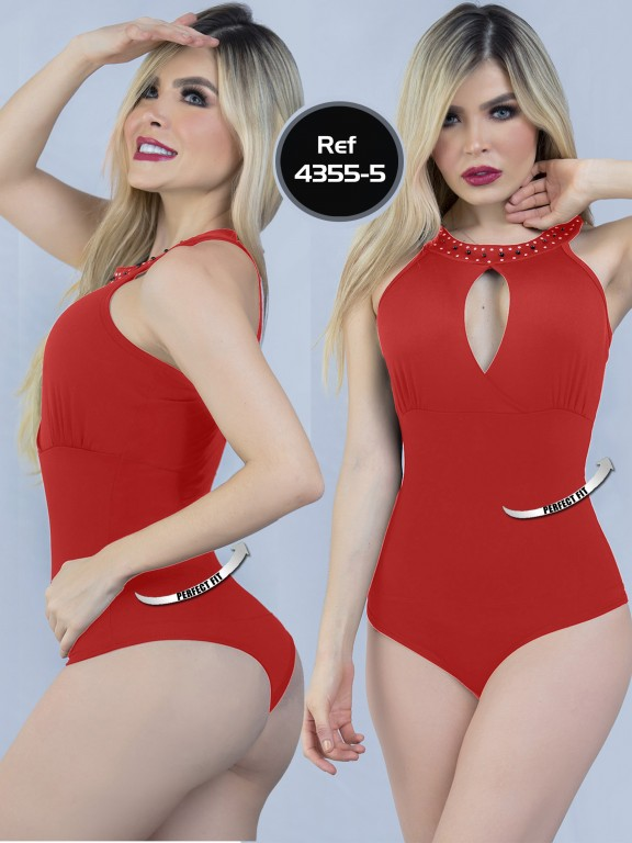 Body Reductor Colombiano Capellini - Ref. 114 -4355-5 Rojo