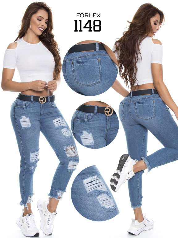 Jeans Levantacola Colombiano - Ref. 294 -1148