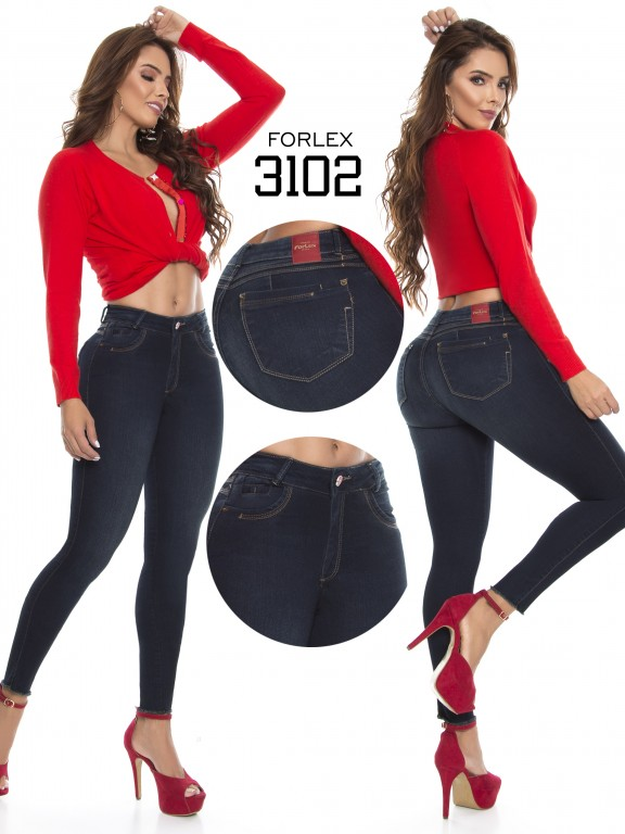 Jeans Levantacola Colombiano - Ref. 294 -3102
