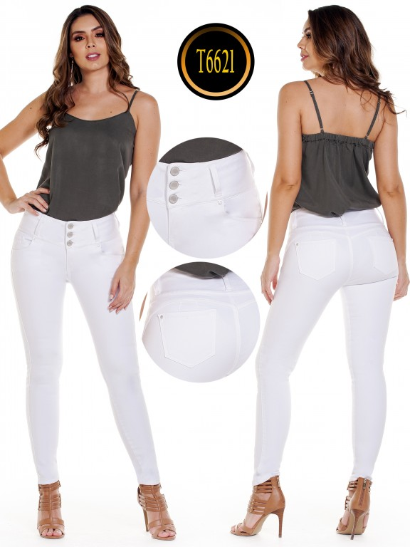 Jeans Colombiano  - Ref. 278 -6621 Blanco