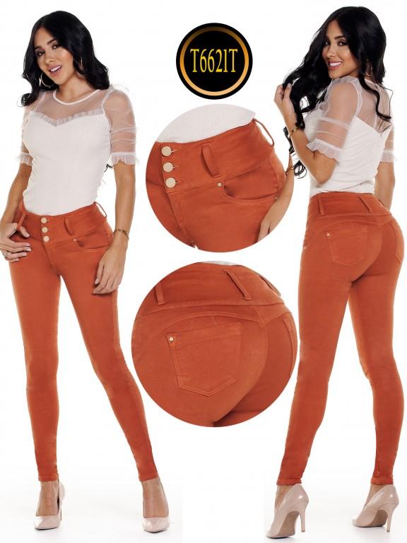 Jeans Levantacola Colombiano - Ref. 278 -6621 Terracota