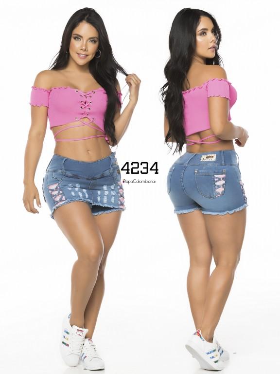 Falda Short Levantacola Colombiano - Ref. 119 -4234CK