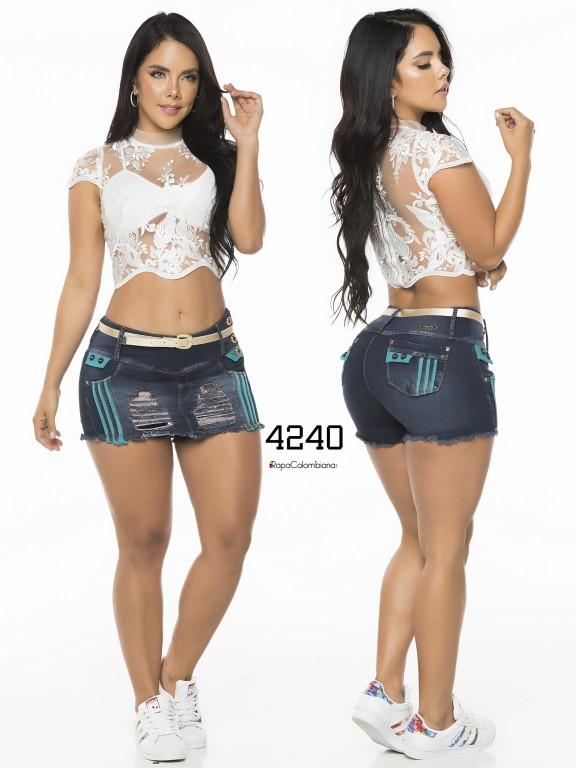 Falda Short Levantacola Colombiano - Ref. 119 -4240CK