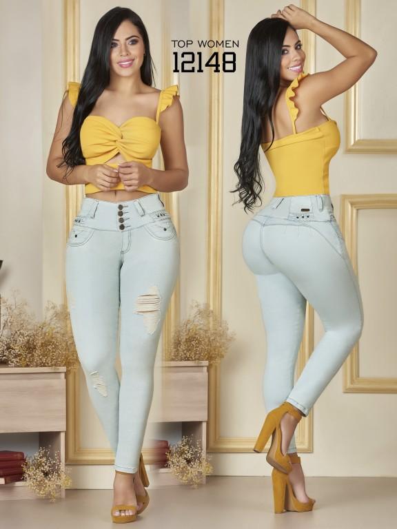 Jeans Levantacola Colombiano Top Women  - Ref. 123 -12148 TW