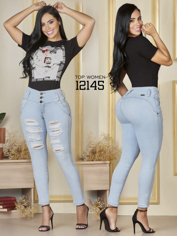 Jeans Levantacola Colombiano Top Women  - Ref. 123 -12145 TW