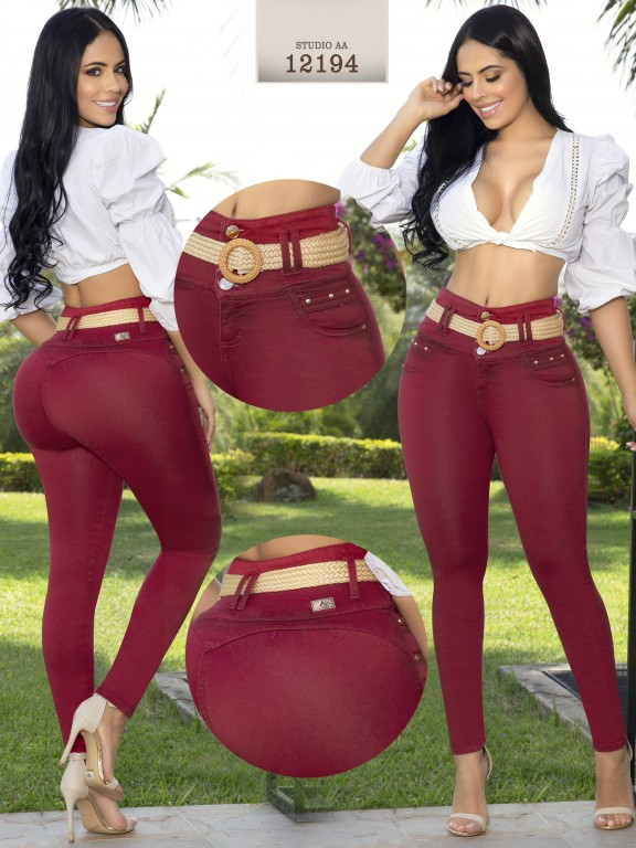 Jeans Levantacola Colombiano Studio AA - Ref. 235 -12194-AA