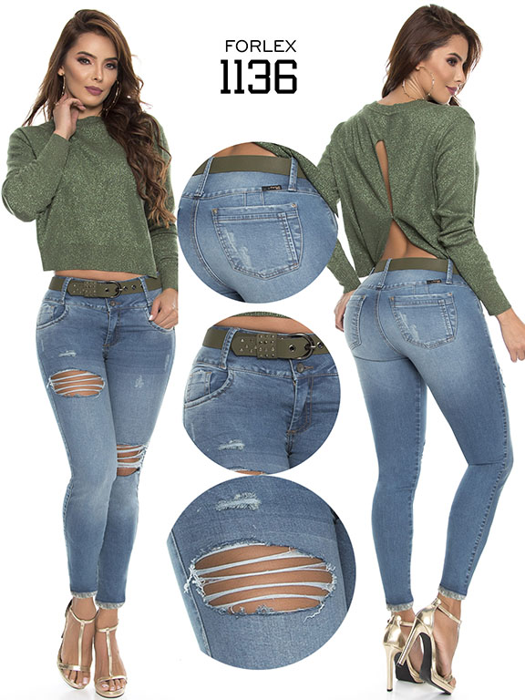 Jeans Levantacola Colombiano - Ref. 294 -1136