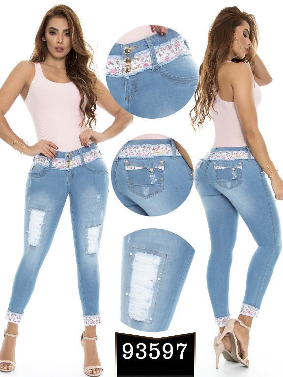 Jeans Levantacola Colombiano Ene 2  - Ref. 243 -93597-E