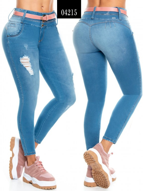 Jeans Levantacola Colombiano  - Ref. 270 -4215