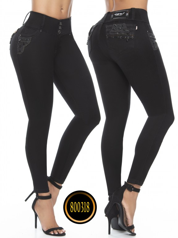 Jeans Levantacola Colombianos Wow - Ref. 243 -800318W-2 Negro