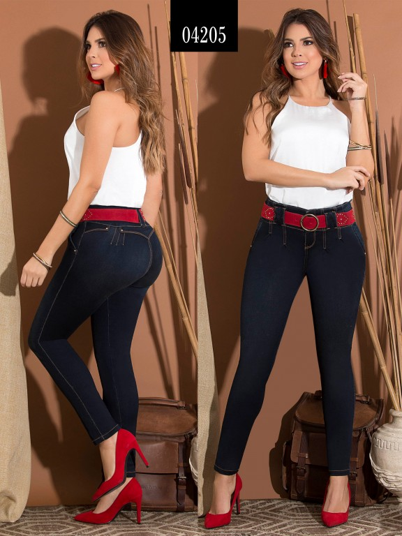 Jeans Levantacola Colombiano  - Ref. 270 -4205