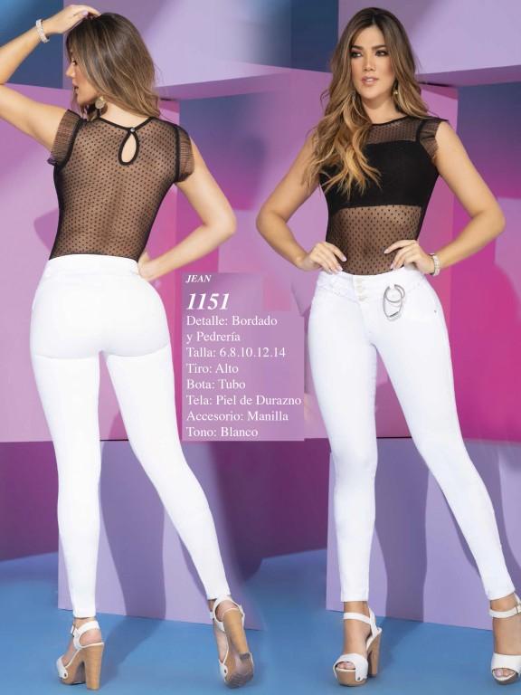 Jeans Levantacola Colombianos - Ref. 280 -1151 Bviolet