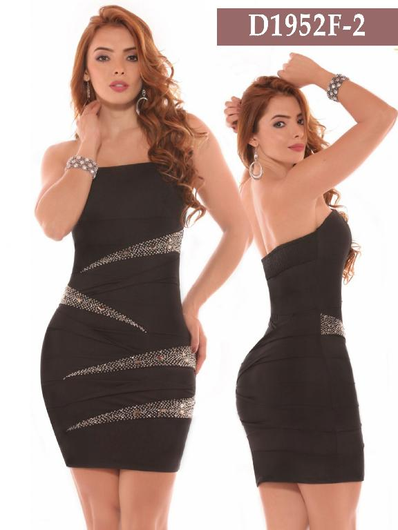 Azulle Fashion Dress - Ref. 256 -D1952F-2 Negro