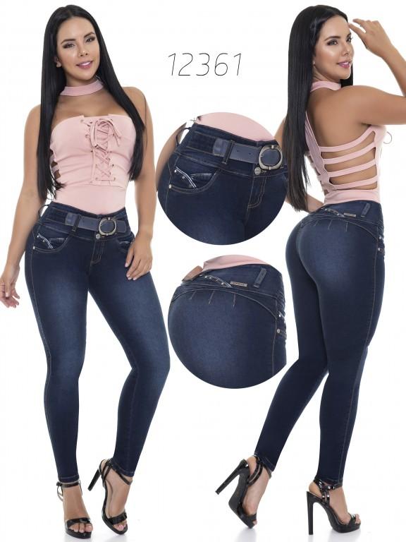 Jeans Levantacola Colombianos Cheviotto - Ref. 101 -12361