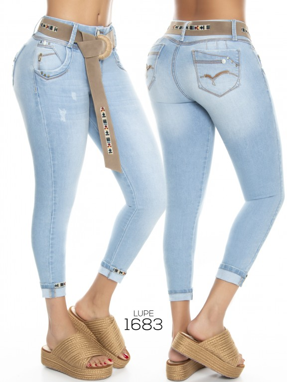Jeans Levantacola Colombianos  - Ref. 298 -1683 Jeans Lupe