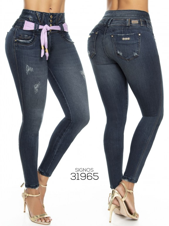 Jeans Levantacola Colombianos  - Ref. 259 -31965