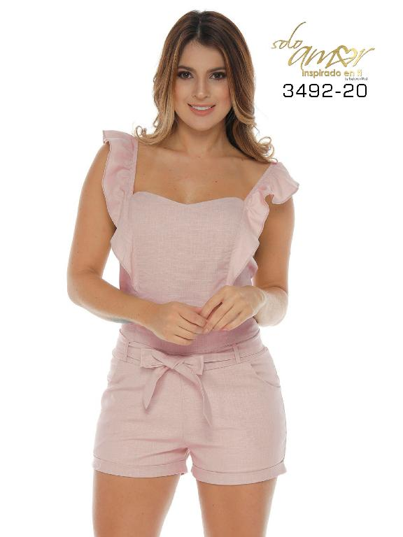 Colombian short set - Ref. 246 -3492-20 Rosado