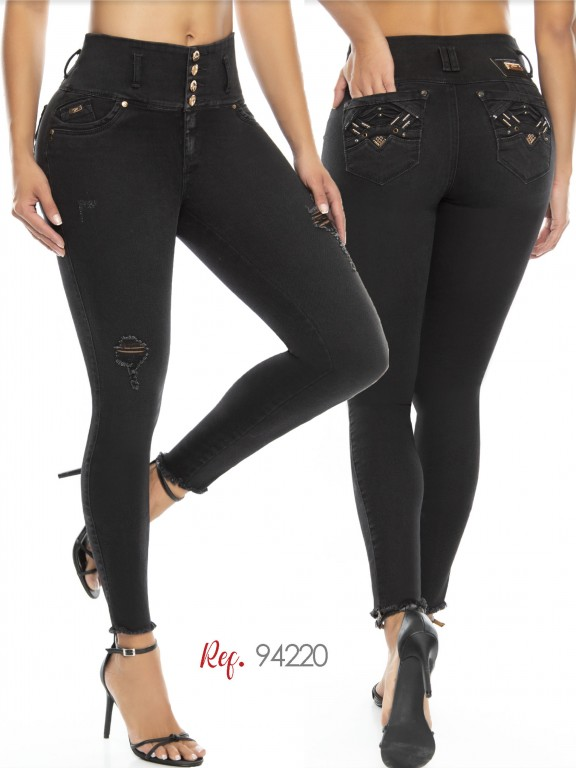 Jeans Levantacola Colombiano - Ref. 248 -94220-D
