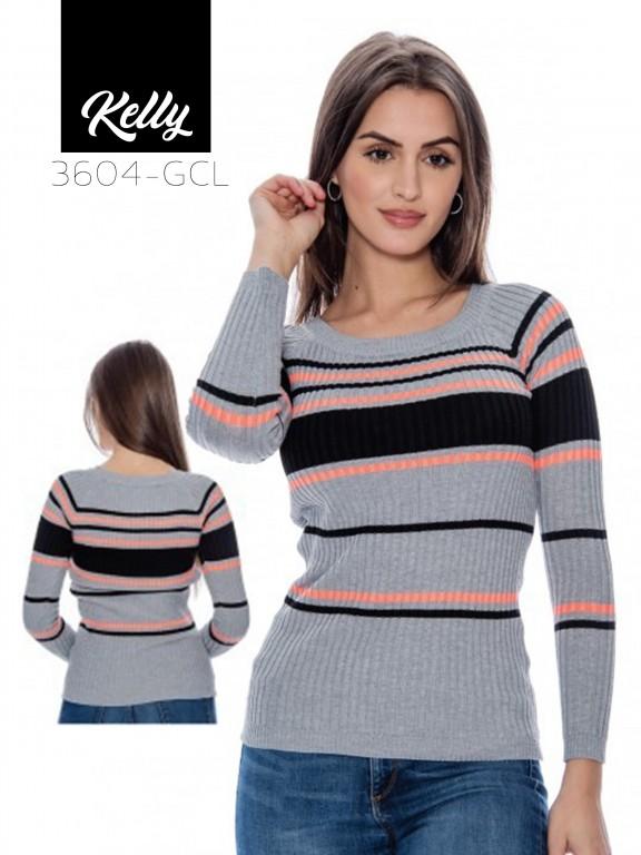 Sueter Kelly-3604 - Ref. 200 -KELLY-3604 Gris Claro