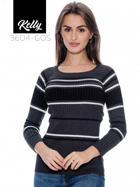 Sueter Kelly-3604 - Ref. 200 -KELLY-3604 Gris Oscuro