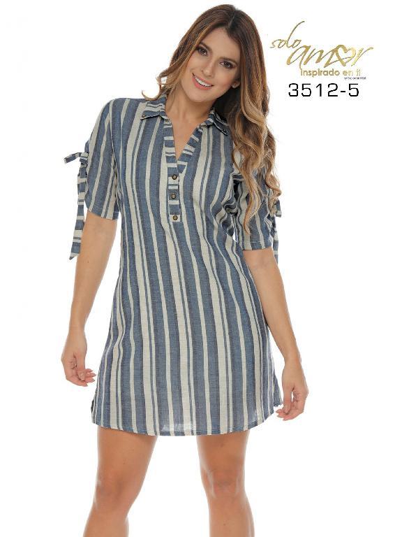 Colombian dress - Ref. 246 -3512-5 Azul