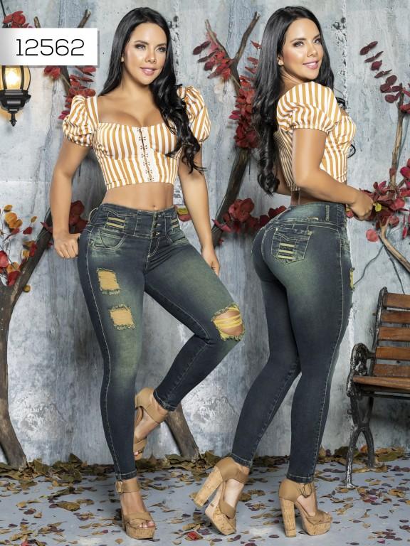Jeans Levantacola Colombiano Tabbachi  - Ref. 101 -12562 T