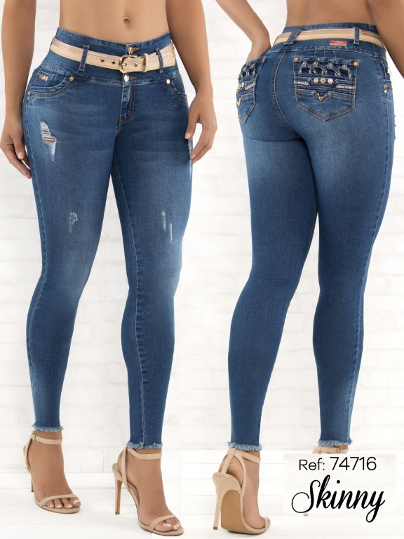 Jeans Levantacola Colombianos - Ref. 248 -74716-D