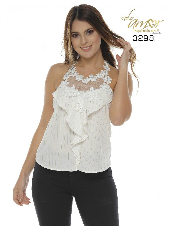Blusa Colombiano - Ref. 246 -3298-16 Beige