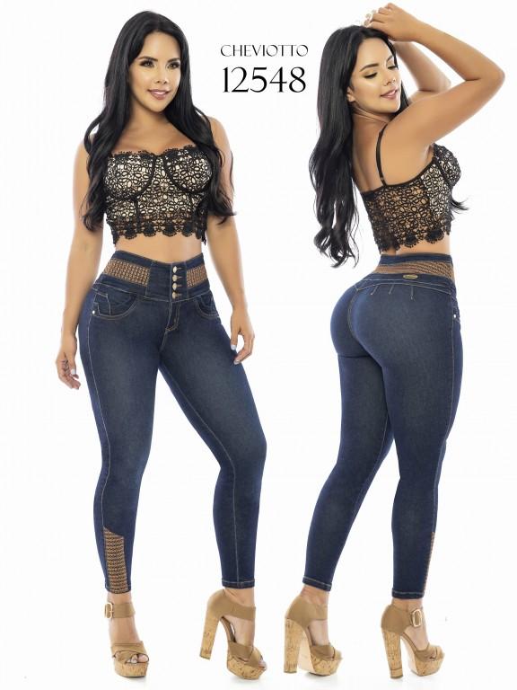 Jeans Levantacola Colombianos Cheviotto - Ref. 101 -12548