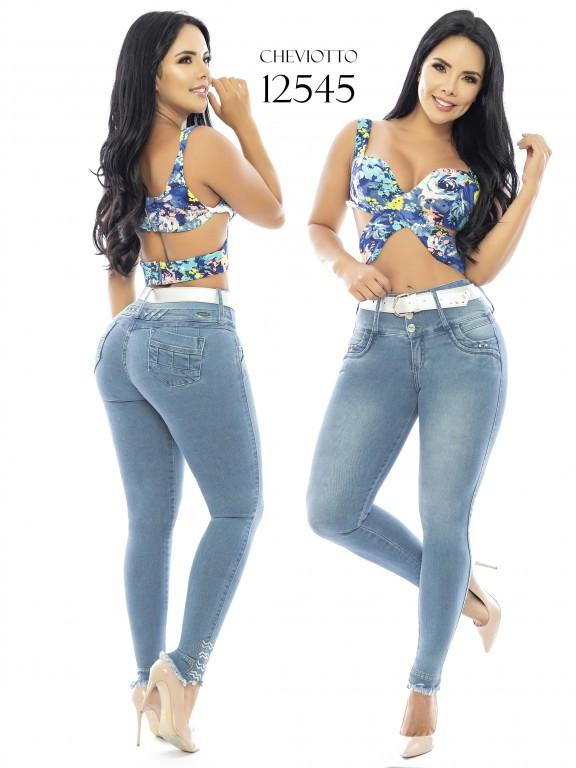 Jeans Levantacola Colombianos Cheviotto - Ref. 101 -12545