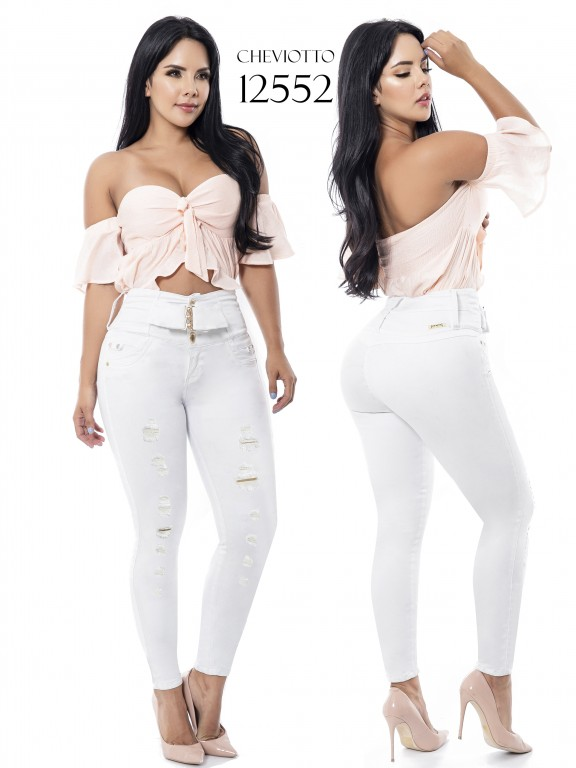 Jeans Levantacola Colombianos Cheviotto - Ref. 101 -12552
