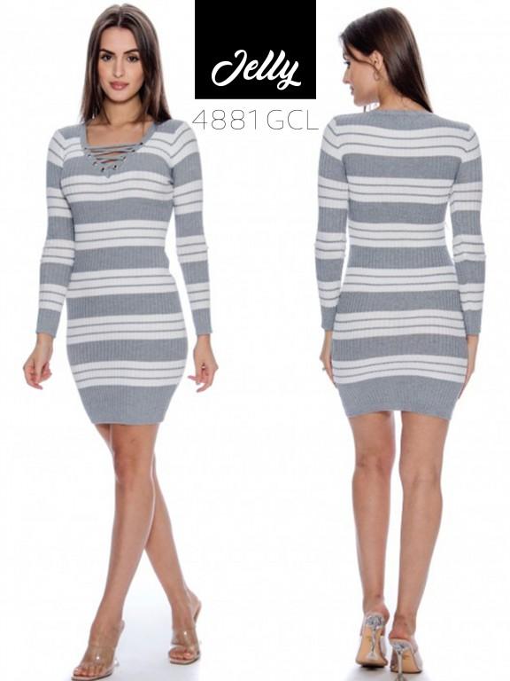 Vestido Jelly-4881 - Ref. 200 -JELLY-4881 Gris Claro