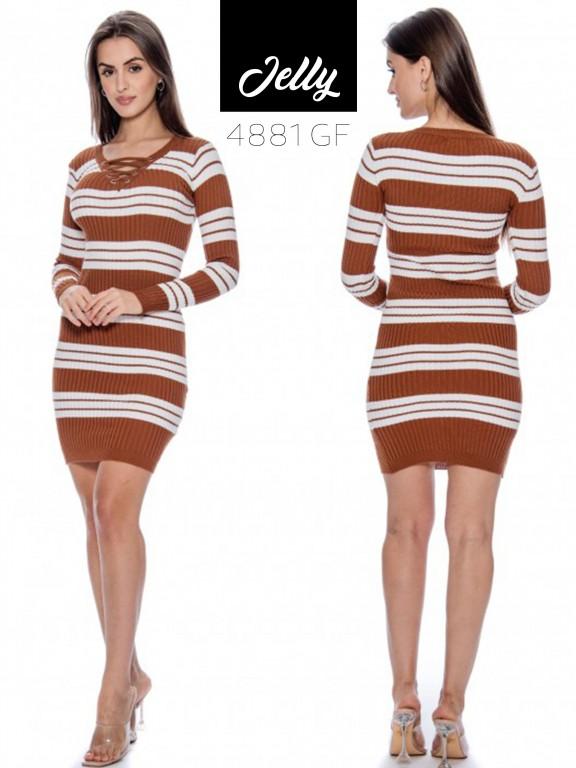 Vestido Jelly-4881 - Ref. 200 -JELLY-4881 Café