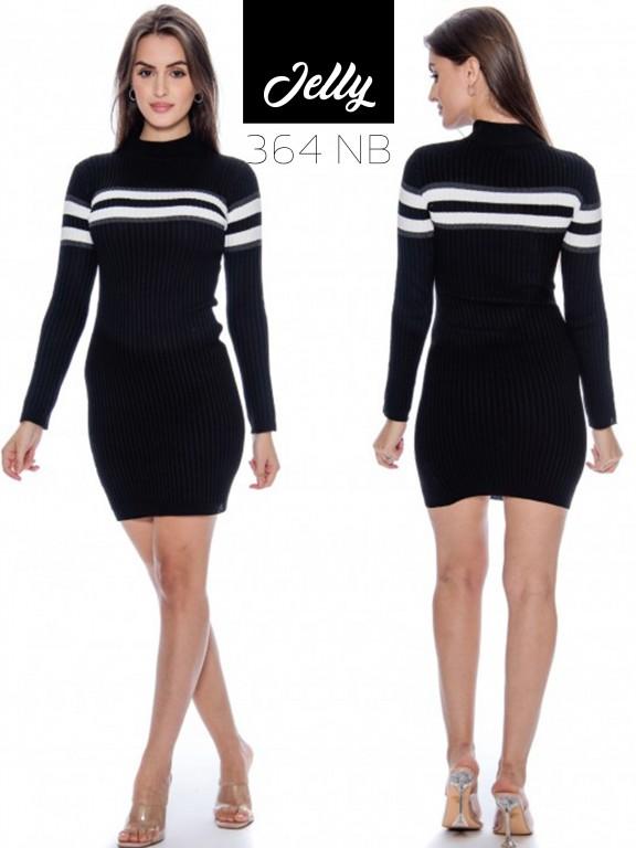 Vestido Jelly-364 - Ref. 200 -JELLY-364 Negro/Blanco