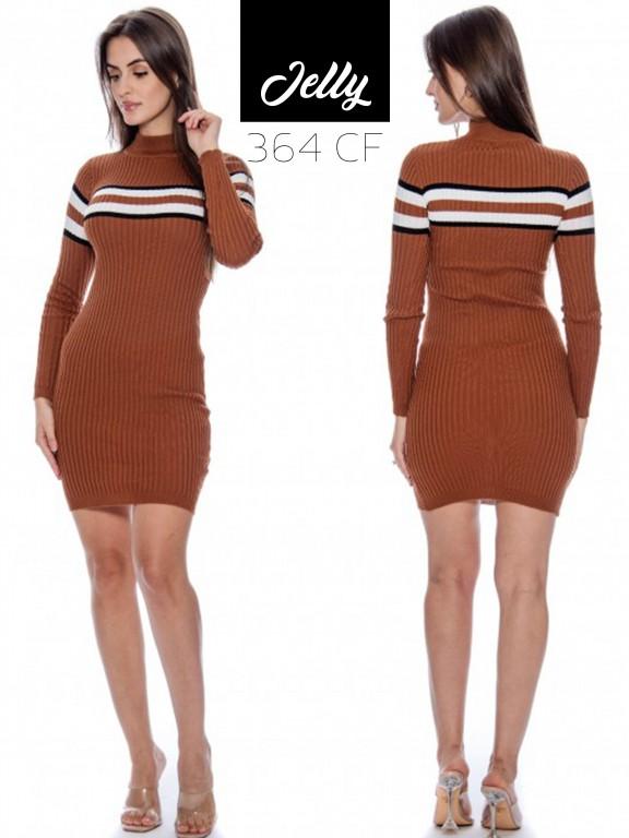 Vestido Jelly-364 - Ref. 200 -JELLY-364 Café