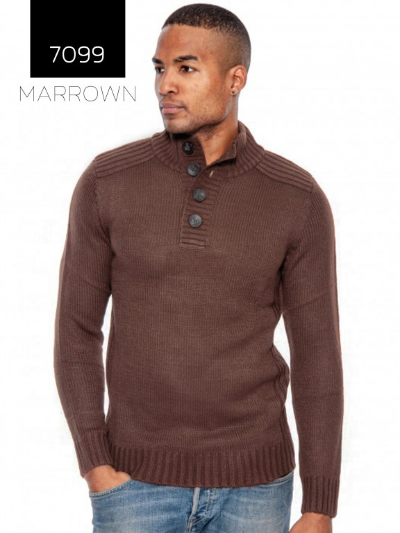 Sueter Hombre 7099- Marrown - Ref. 200 -7099- Marrown
