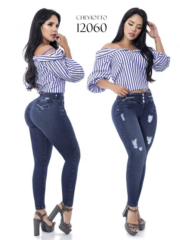 Jeans Levantacola Colombianos Cheviotto - Ref. 101 -12060