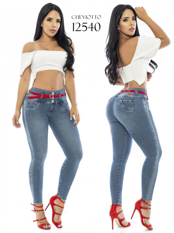 Jeans Levantacola Colombianos Cheviotto - Ref. 101 -12540