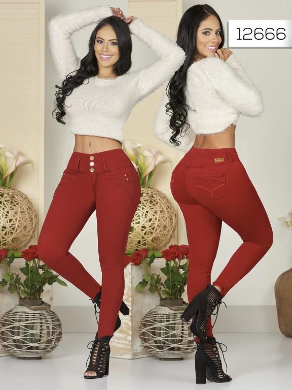 Jeans Levantacola Colombiano  - Ref. 123 -12666-TW