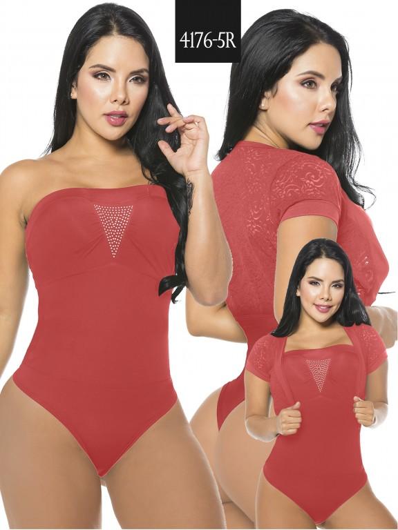 Body Reductor Colombiano Capellini - Ref. 114 -4176-5R Rojo