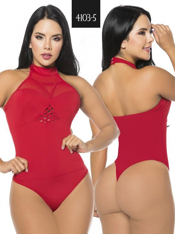 Body Reductor Colombiano Capellini - Ref. 114 -4103-5 Rojo
