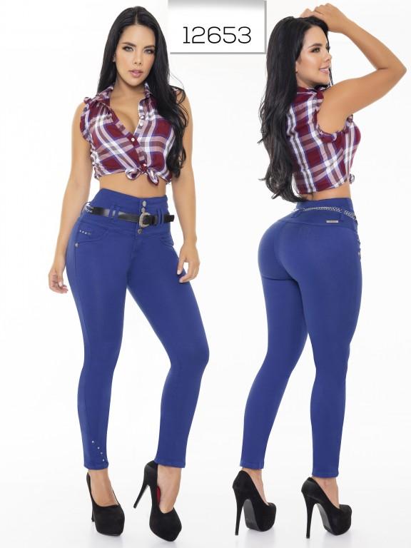 Jeans Levantacola Colombianos Cheviotto - Ref. 101 -12653