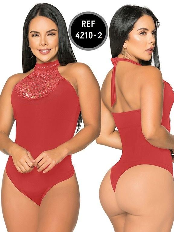 Body Reductor Colombiano Capellini - Ref. 114 -4210-2 Rojo