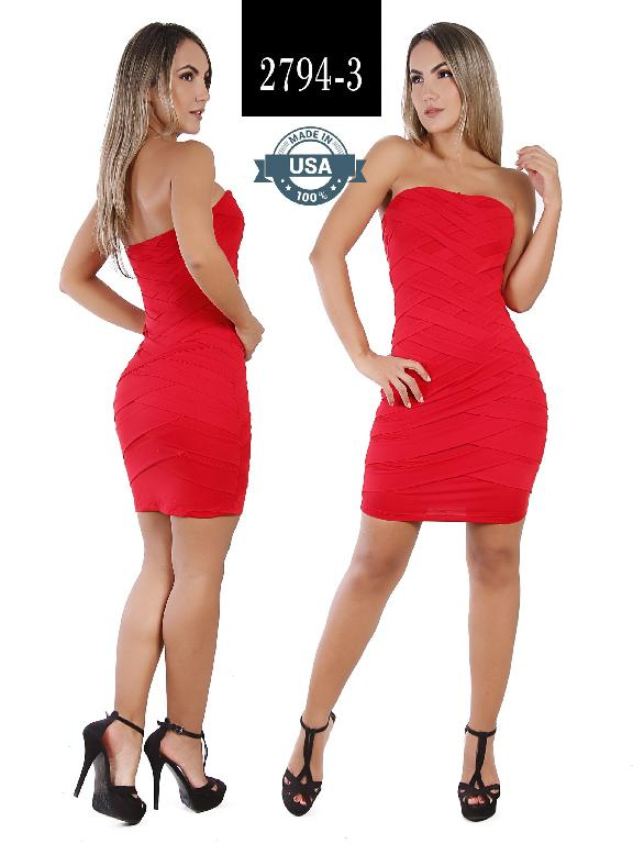 Azulle Fashion Dress - Ref. 256 -2794-3 Rojo