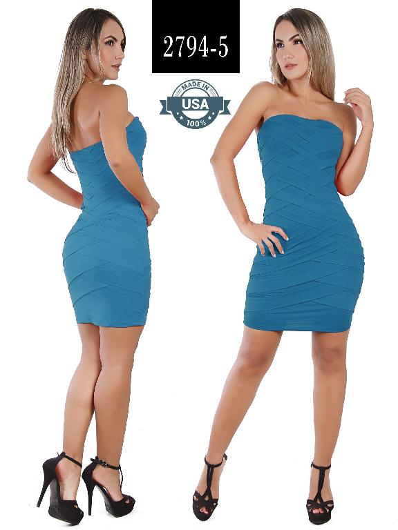 Azulle Fashion Dress - Ref. 256 -2794-5 Azul