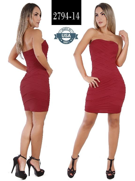 Azulle Fashion Dress - Ref. 256 -2794-14 Vino Tinto