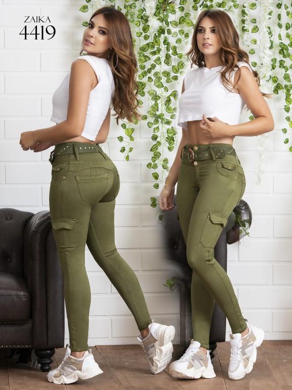 Jeans Levantacola Colombiano Zaika - Ref. 270 -4419