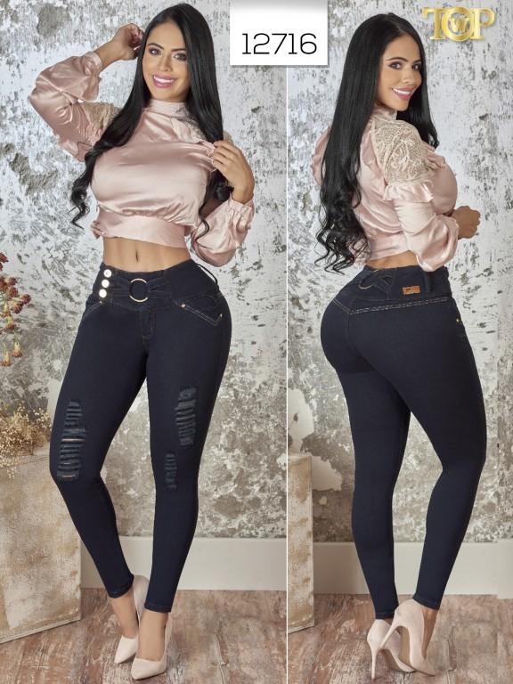 Jeans Levantacola Colombiano  - Ref. 123 -12716 TW