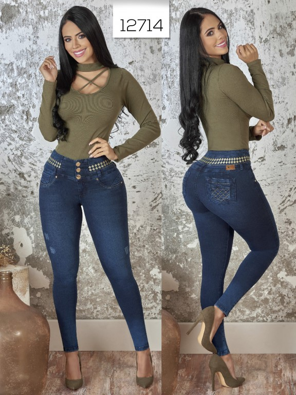 Jeans Levantacola Colombiano  - Ref. 123 -12714 TW